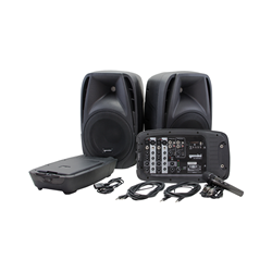 Gemini ES-210MXBLU Pair 10-inch Active Speakers with Mixer