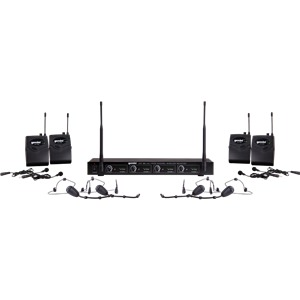 Gemini UHF-04HL 4-Channel System Headset Lapel CH70