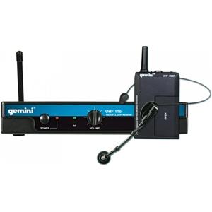 Gemini UHF-116HL System Headset Lapel CH70