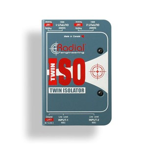 Radial Twin-Iso 2-Channel +4dB Isolator