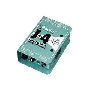 Radial J+4 Stereo -10dB to +4dB Line Driver
