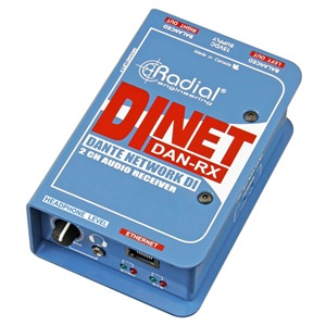 Radial DiNET DAN-RX 2-Channel Dante Audio Receiver