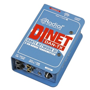 Radial DiNET DAN-TX 2-Channel Dante Audio Transmitter