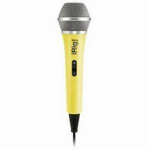 IK Multimedia iRig Voice Yellow iOS Android Handheld Mic