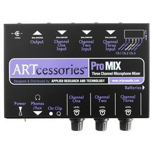 ART Promix 3Channel Mic Mono Mixer