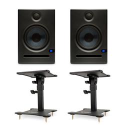 Presonus Eris E5 Monitors with Desktop Stands