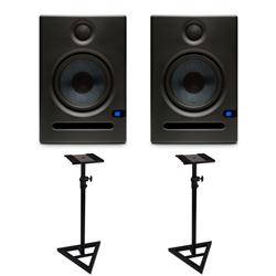 PreSonus Eris E5 Active Studio Monitors with Floor Stands