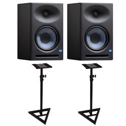 PreSonus Eris E8 XT Studio Monitors with Floor Stands