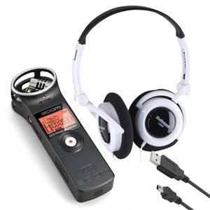 Zoom H1 v2, Headphones & USB Lead Bundle