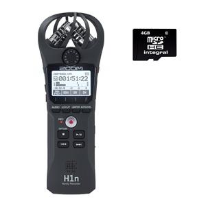Zoom H1n Recorder + 4GB microSDHC Card