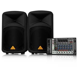 Behringer Europort EPS500MP3 Mixer + PA Speakers x2
