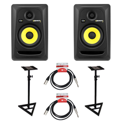 KRK Rokit RP5 G3 Studio Monitors Stands Bundle