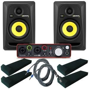 KRK Rokit RP5 Studio Monitors Focusrite Bundle