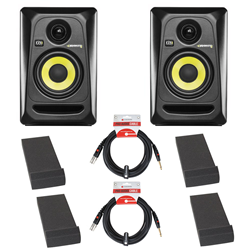 KRK Rokit RP4 G3 Studio Monitors Isolation Bundle