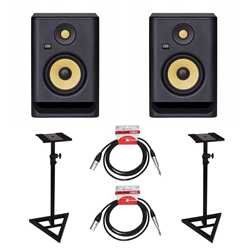 KRK Rokit RP5 Gen 4 Bundle Monitor Stds & Leads