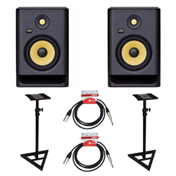 KRK Rokit RP7 Gen 4 Bundle Monitor Stds & Leads