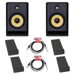 KRK Rokit RP8 Gen 4 Bundle Monitor Pads & Leads