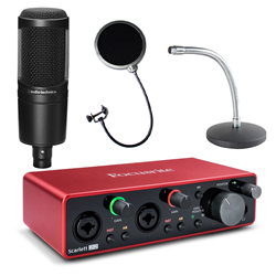 Focusrite Scarlett 2i2 and AT2020 Bundle