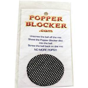 Popper Blocker Internal Microphone Filter