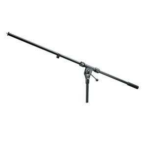 K&M 21100 Fixed Boom Arm Blk Long