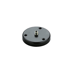 K&M 221d Table Flange/Base Black 3/8""