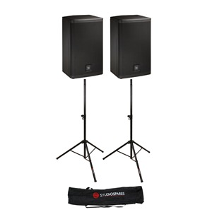 Electro-Voice ELX112 12'' Passive Pair + Stands/Bag Bundle