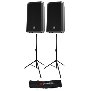"Electro-Voice ZLX-12 12"" Passive Pair + Stands + Bag"
