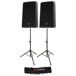 "Electro-Voice ZLX-15 15"" Passive Pair + Stands + Bag"