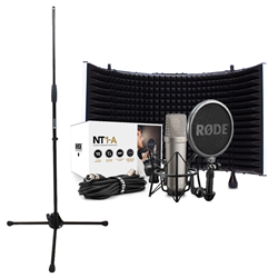 Rode NT1A + Reflection Filter White + Mic Stand (No Boom)