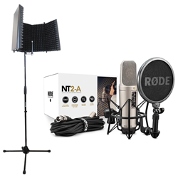 Rode NT2A + Reflection Filter Black + Mic Stand (No Boom)