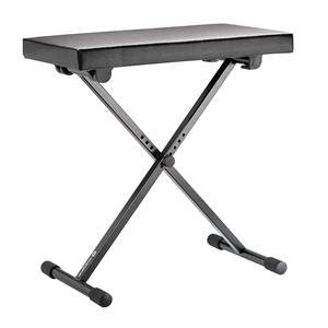 K&M 14065 Keyboard Bench Black Leather