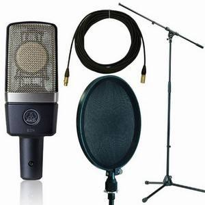 AKG C214 Pro Stand/Pop Shield/10m Lead Package