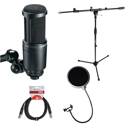 Audio-Technica AT2020 Stand + Pop Filter Bundle