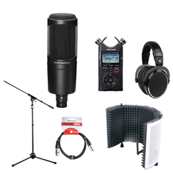 Voiceover Kit Pro with Audio Technica AT2020 - Reflection Filter White