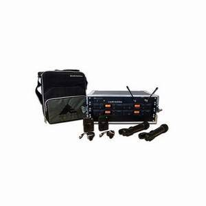 Audio Technica ATW2410aP Rack System 4x Lavalier