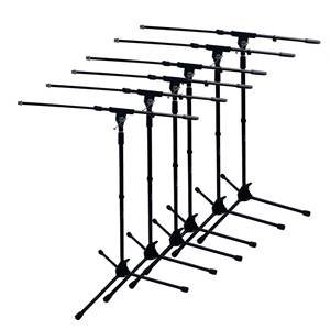 Studiospares Mic Stand & Telescopic Boom (6-Pack)