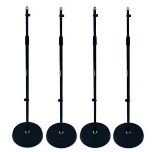 Studiospares Round Base Mic Stand (4-Pack)