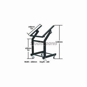 Studiospares Wheeled Rack Trolley 12U/8U