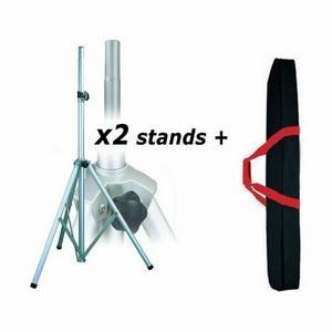 Studiospares Aluminium Speaker Stands x2 + Bag
