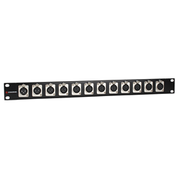 Studiospares XLR Rack Panel Female x12 XLRs