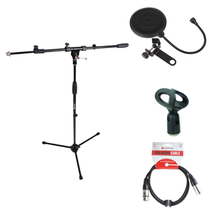 Mic Stand Pack 2 incl.Clip+Lead+RED200