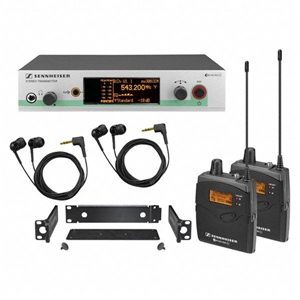 Sennheiser EW300-2 Twin IEM G3 In Ear Monitoring System CH38