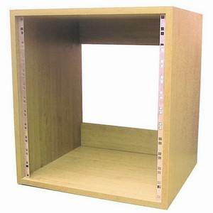 "Rack Cabinet 19"" 8U Beech Finish"