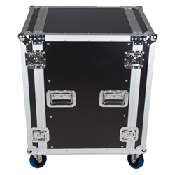 Trojan RC16U Wheeled Rack Road Case 16U