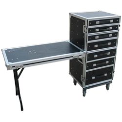 Trojan 7-Drawer Wheeled Roadie Case