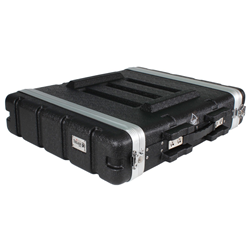 Trojan Black MkII 2U ABS Rack Case