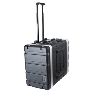 Trojan Black MKII 4U+2U ABS Wheeled Rack Case