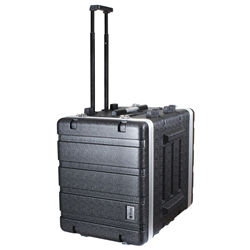 Trojan ABS Wheeled Rack Case 6U+2U