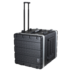 Trojan ABS Wheeled Rack Flight Case 8U+2U