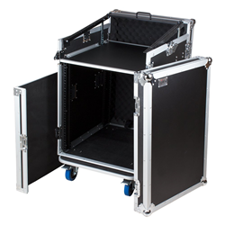 Trojan AMC12U-12U Wheeled Rack Flight Case